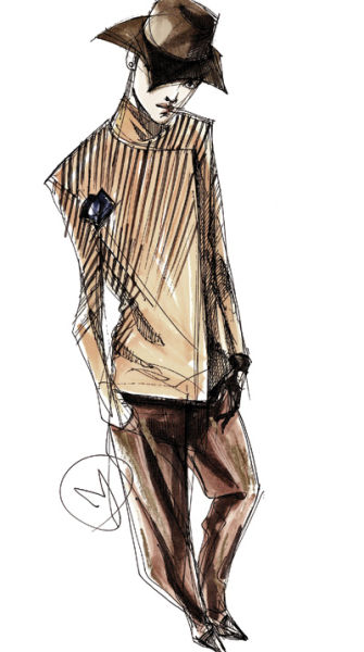 服装设计钢笔速写