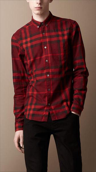 博柏利(Burberry)秋冬新款格子男衬衫