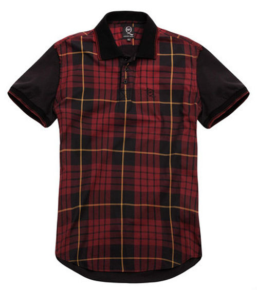 McQ春夏款类似Wallace Modern Tartan Check的男士T-shirt