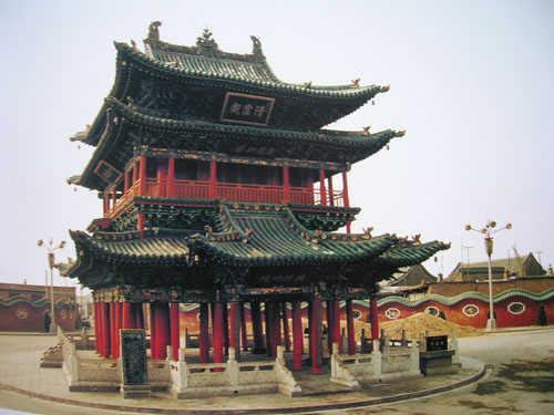 晋中古代阁楼式建筑杰作