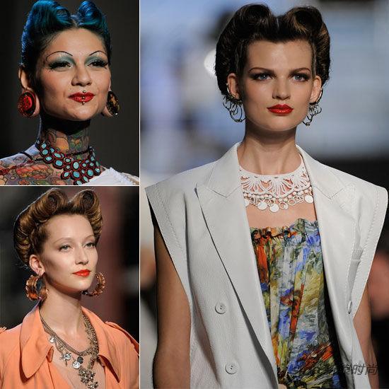 这一季用刺青图案打扮自己的巴黎贵妇们,不只项链,耳环,手镯统统备齐