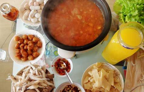 酸甜清淡的番茄火锅