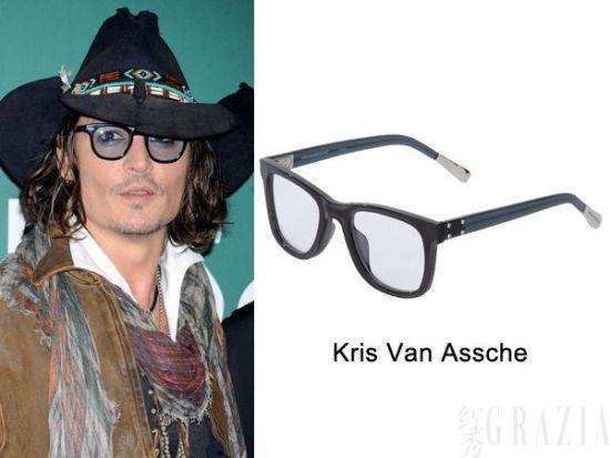 图左:约翰尼-德普(Johnny Depp) 图右:Kris Van Assche