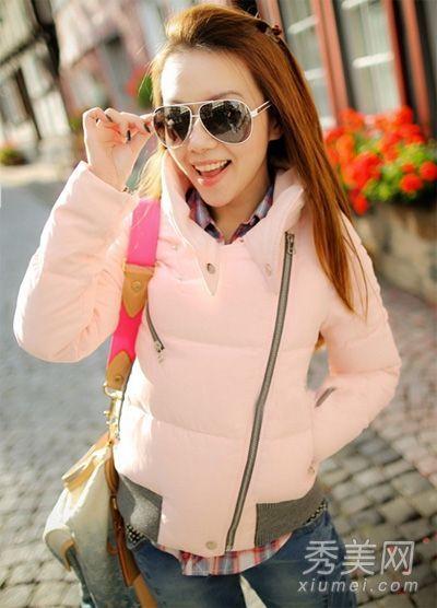 水粉色的小棉衣