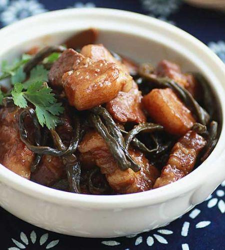最适合冬天吃的炖菜:干豆角炖五花肉
