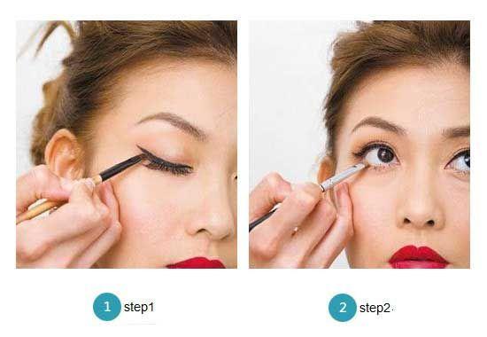 先进行眼妆修饰
