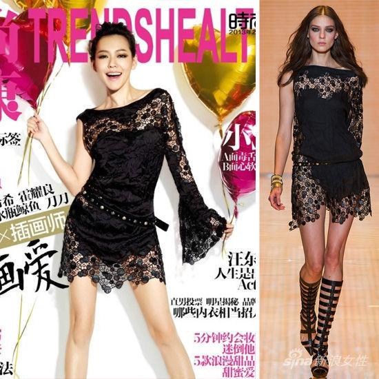 《时尚健康》2013年2月:小s in Versace
