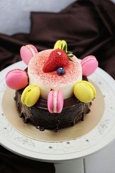 草莓芝士魔鬼蛋糕