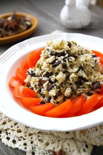雪菜香菇素炒饭