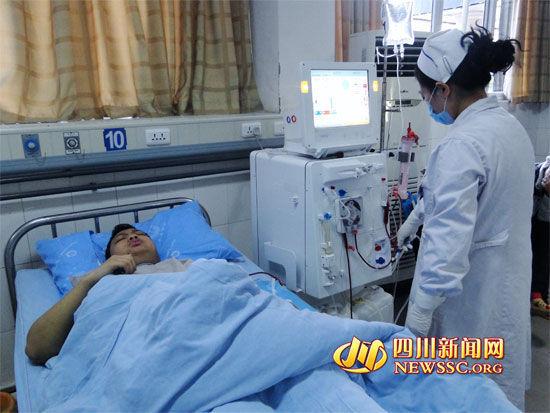 徐海东正在渠县人民医院做透析治疗