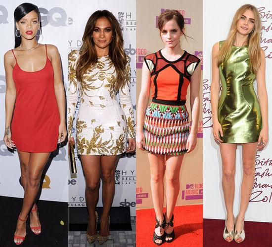 明星示范:Rihanna,Jennifer Lopez,,Emma Watson,Cara Delevingne