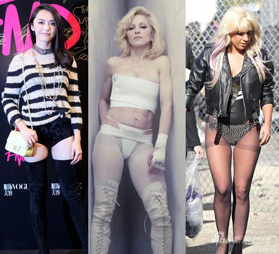 明星示范:姚晨,麦当娜,Gaga