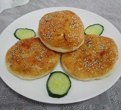 香酥可口健胃消食秦晋特色小吃 柳林芝麻烧饼
