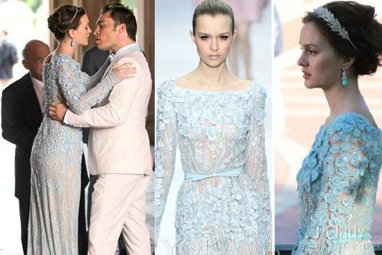 Blair Waldorf身穿Elie Saab高定的皇室婚礼