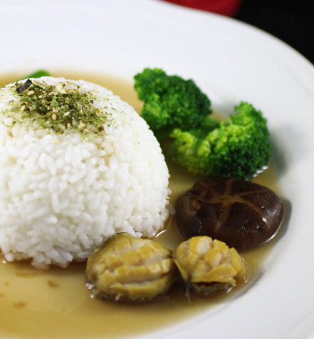 简单版鲍鱼捞饭