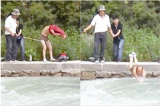 救人者跳水