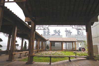 北京通州地税局耗资90万在楼顶建 空中花园