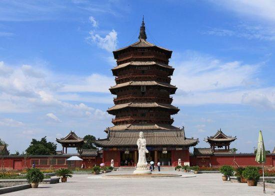 我国最高的佛寺_我国最高最古的木构塔式建筑 应县木塔_新浪晋中