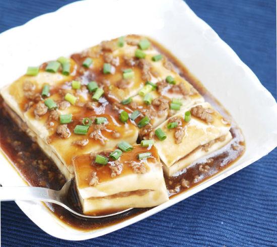 蒸酿滑豆腐