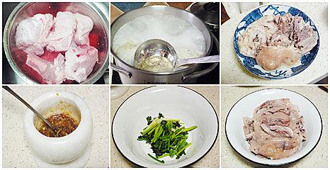 蒜泥拌炖肉做法