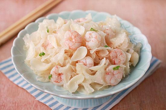 银耳百合炒虾仁