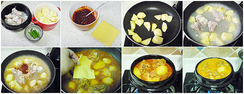 辣土豆骨头汤做法