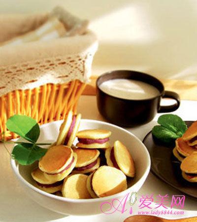 紫薯早餐饼