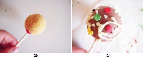 雪花球-棒棒糖蛋糕的做法