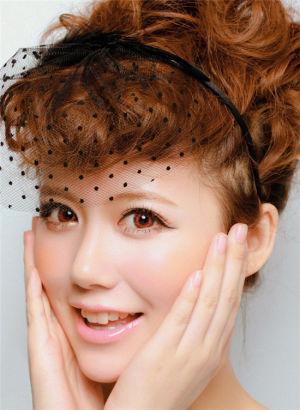 日系甜美樱桃新娘妆造型图片