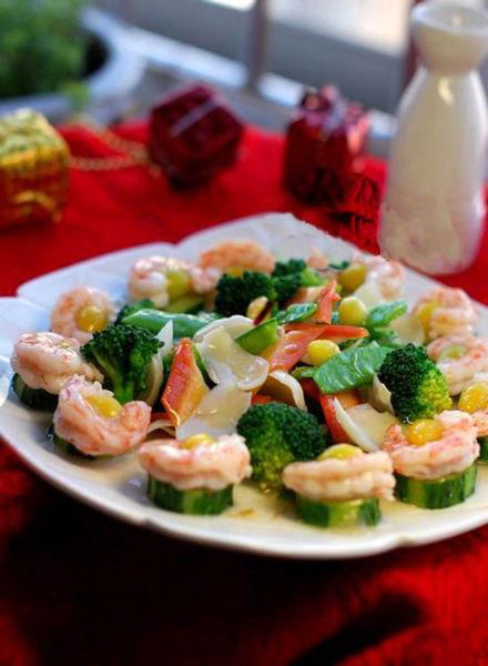 清香四溢鲜蔬烩白果虾仁
