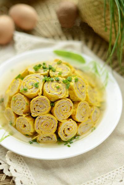 上海浦菌菇扣蛋卷