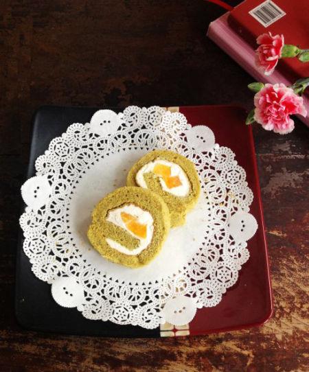 小清新最喜爱的抹茶黄桃卷