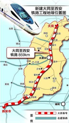 大西铁路线路