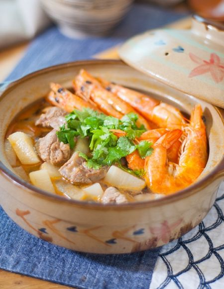 鲜虾羊肉砂锅