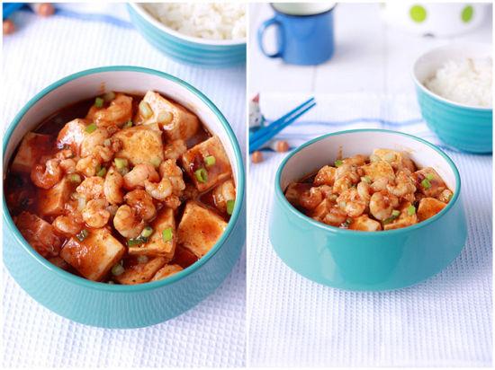 麻婆虾仁豆腐