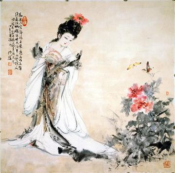 杨贵妃赏牡丹