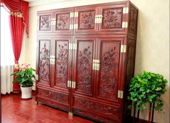 红酸枝和和美美顶箱柜