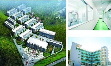 图为优植荟亚洲最大的草药化妆品生产基地。