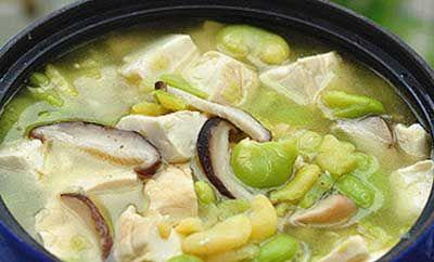 蚕豆豆腐煲