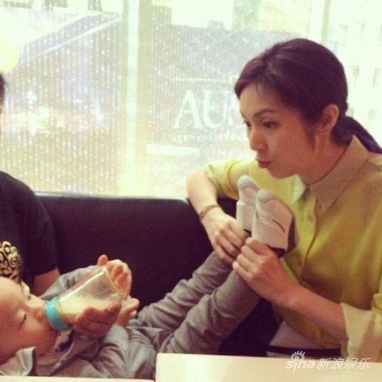 杨千嬅与儿子