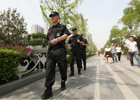 资料图:太原迎泽区武装巡逻应急队