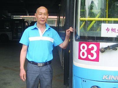 南京83路司机徐连林。任贵林摄