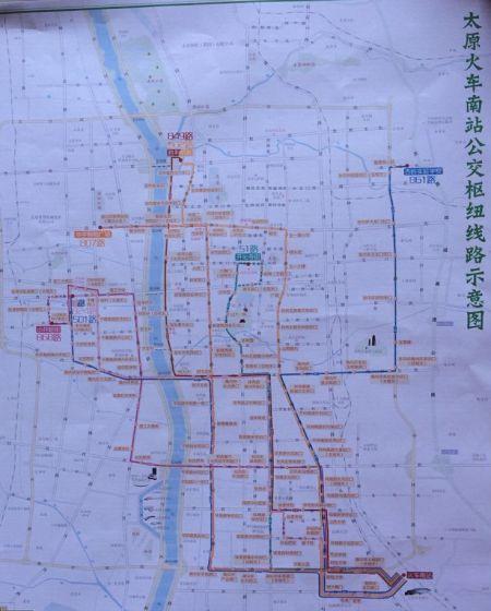 公交线路示意图