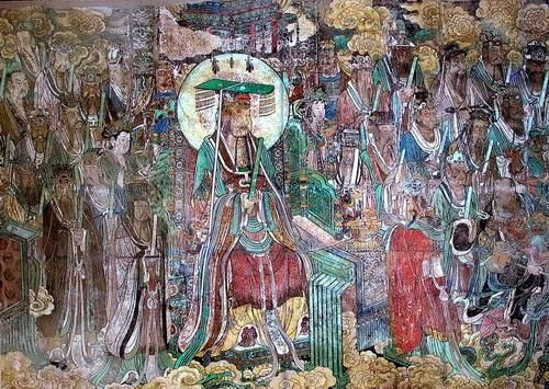 山西芮城永乐宫三清殿壁画