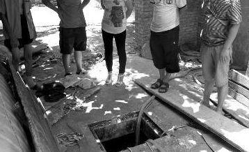 平时事发水窖相对密封,且口很小 华商报记者 周金柱 摄