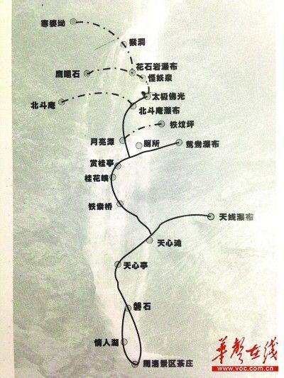 周洛景区路线图。