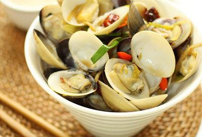 葱姜炒蛤蜊