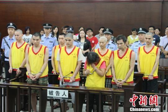 """广州最大""""毒豆芽""""案件一审判决 钟欣 摄"""