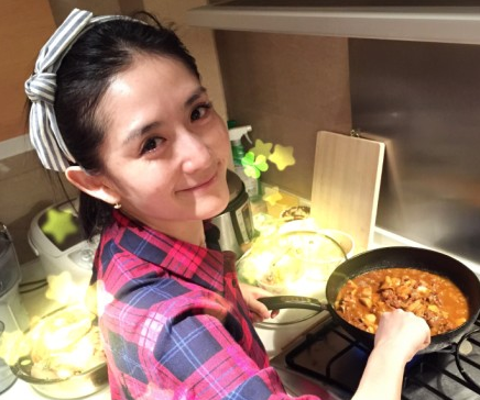 谢娜下厨做美食