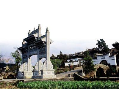 云南乡土建筑钢笔画